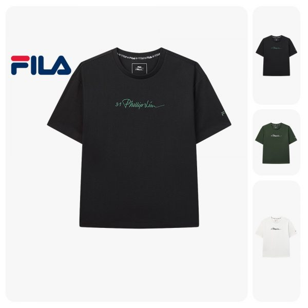 FILA products x 3.1 Phillip Lim Women's Logo Dropped Shoulders T-shirt