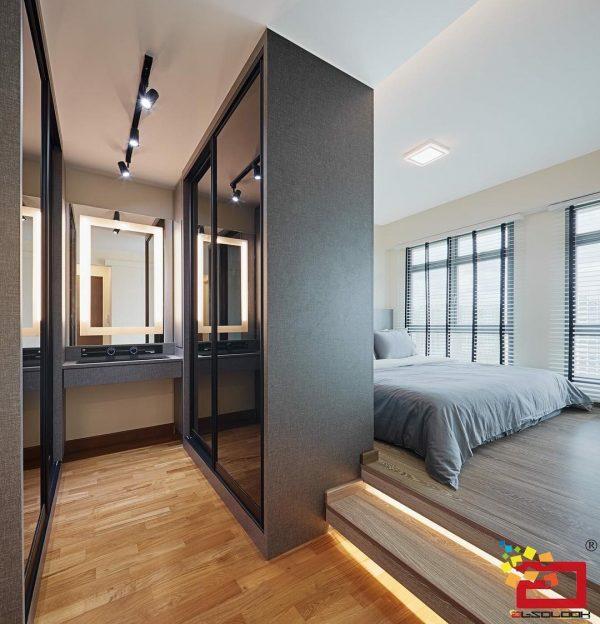 walk-in wardrobe ideas hdb grey cupboards vanity table decoration interior