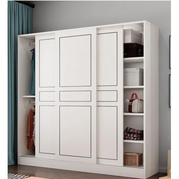lulu simple sliding door wardrobe walk-in hdb space efficient