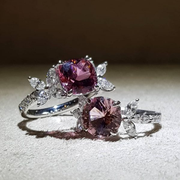 design engagement gemstone ring singapore yuen tung jewellery pte ltd pink