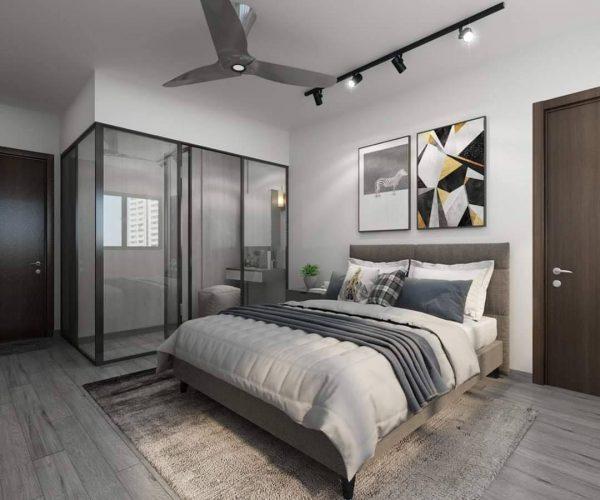 walk-in wardrobe ideas enclosed design white clean modern