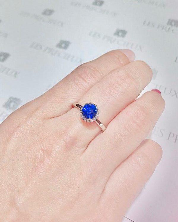 design engagement ring gemstone bespoke singapore sapphire les precieux