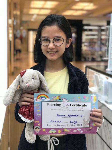 ear piercing for kids singapore stellar girl with piercing certificate