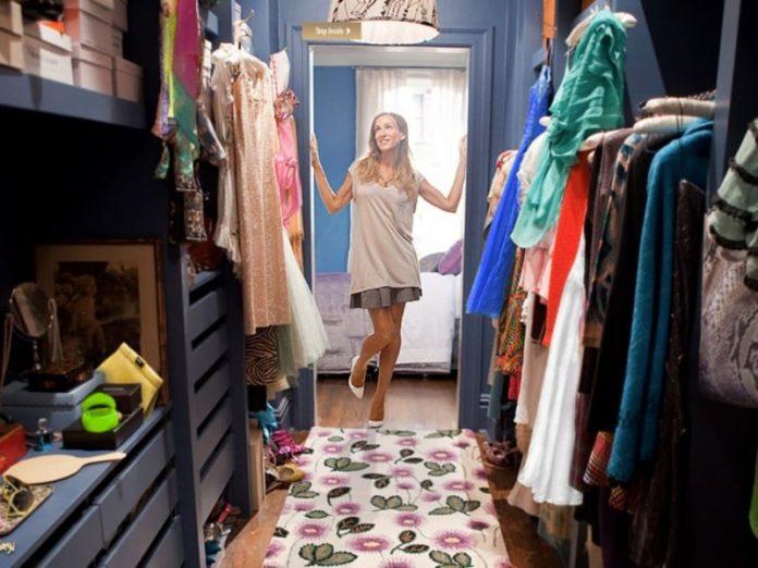walk-in wardrobe idea sex in the city sarah jessica parker