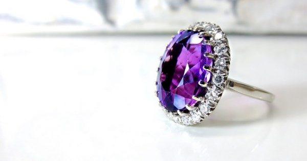 design engagement ring singapore amethyst diamond gemstone