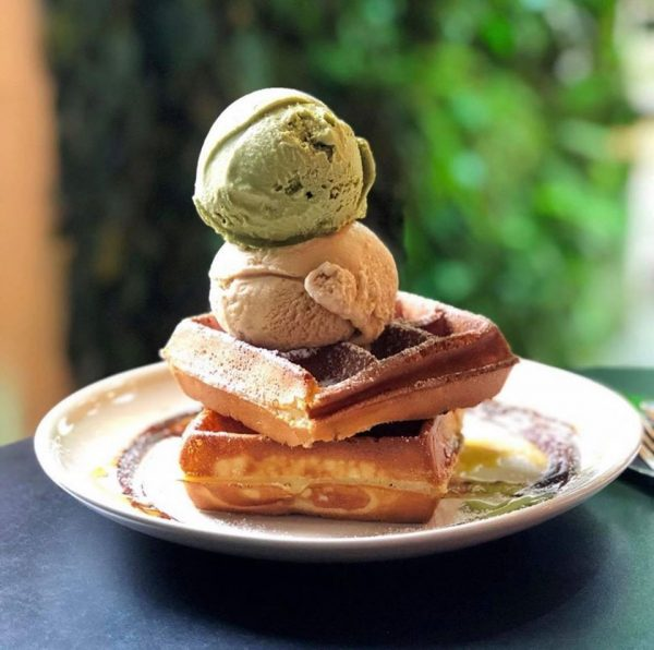 best waffles in singapore with creamier ice cream