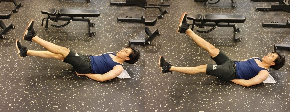 how to train for ippt flutter kicks to improve core strength