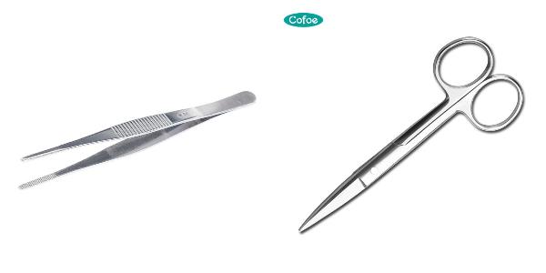 first aid box checklist scissors and tweezers