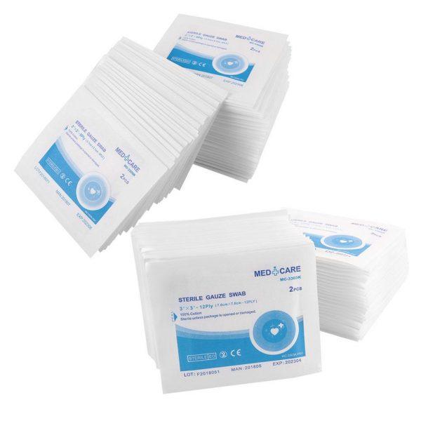first aid box checklist sterile gauze