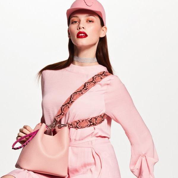 korean bag brands find kapoor pingo 20 basic line set pink bag