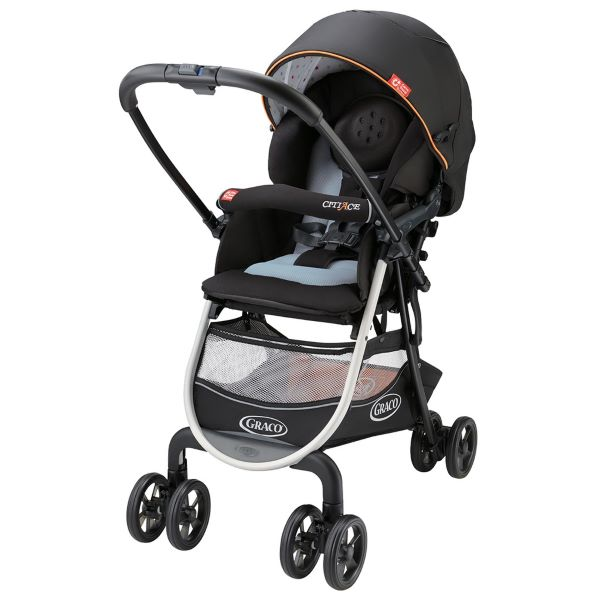 baby stroller with mesh basket at the bottom