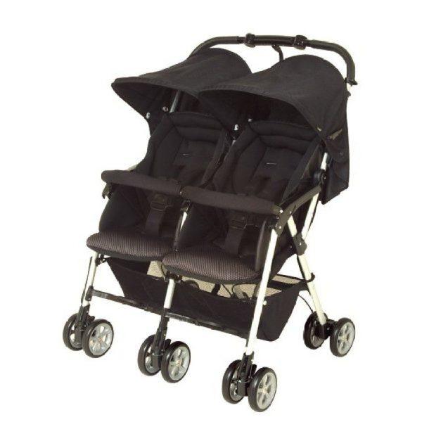 double side by side stroller in black