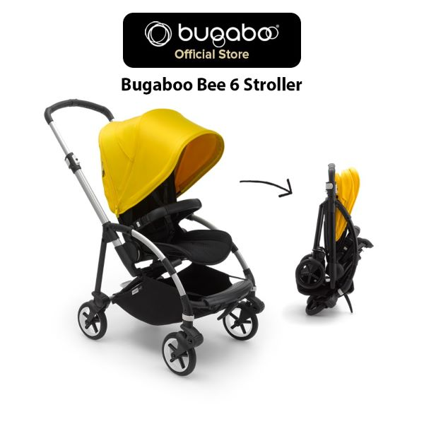 bugaboo yellow and black full-sized baby stroller best singapore