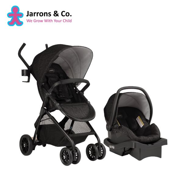 travel system stroller black with car seat