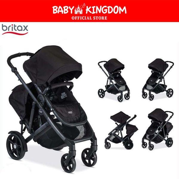 britax black baby stroller in five modes