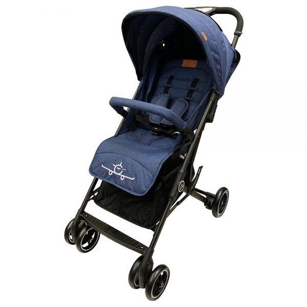 navy blue travel baby stroller