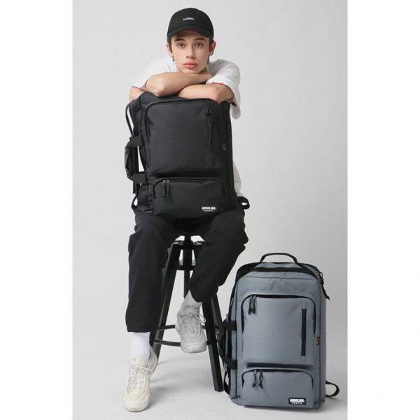 korean backpack brands bubilian 3way cordura backpack grey black unisex