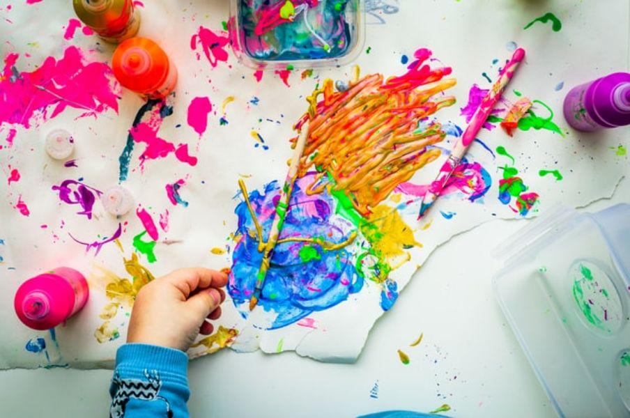 indoor activities for kids art jamming