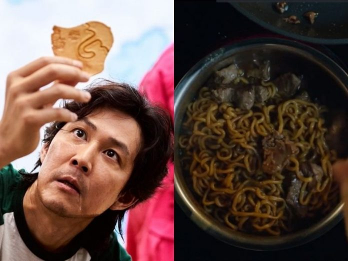 korean drama recipes squid game dalgona candy and ram don parasite
