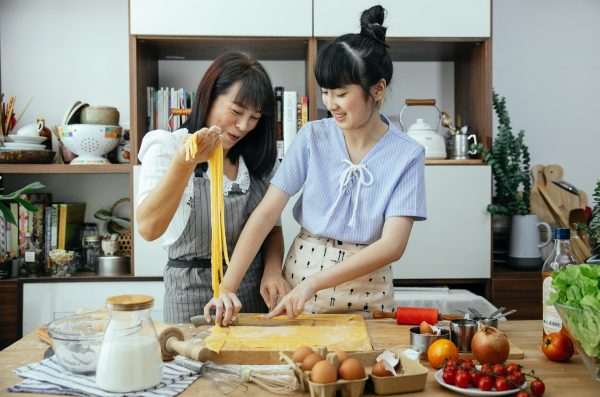 mothers day activity singapore 2021 cooking asian mum daughter pasta making