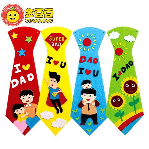 handmade father's day card for kids ideas tie wearable