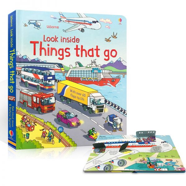 best children's book storybook for kids 3d usborne look inside things that go hard cover book