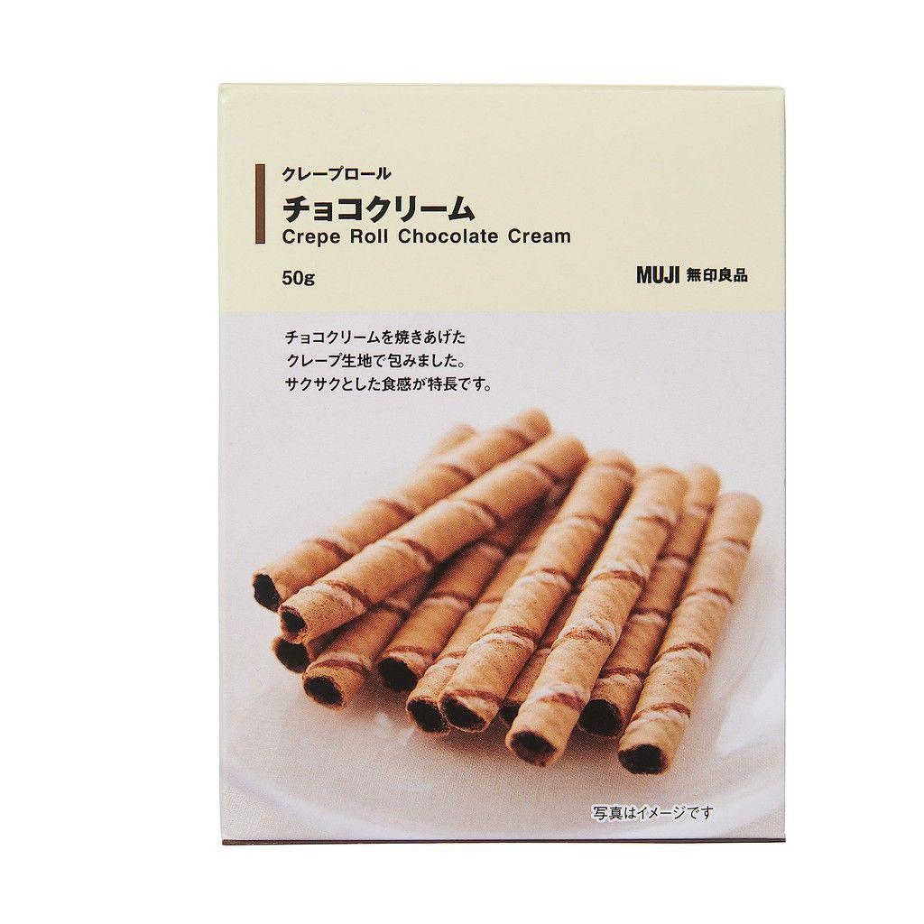 muji crepe chocolate roll cream
