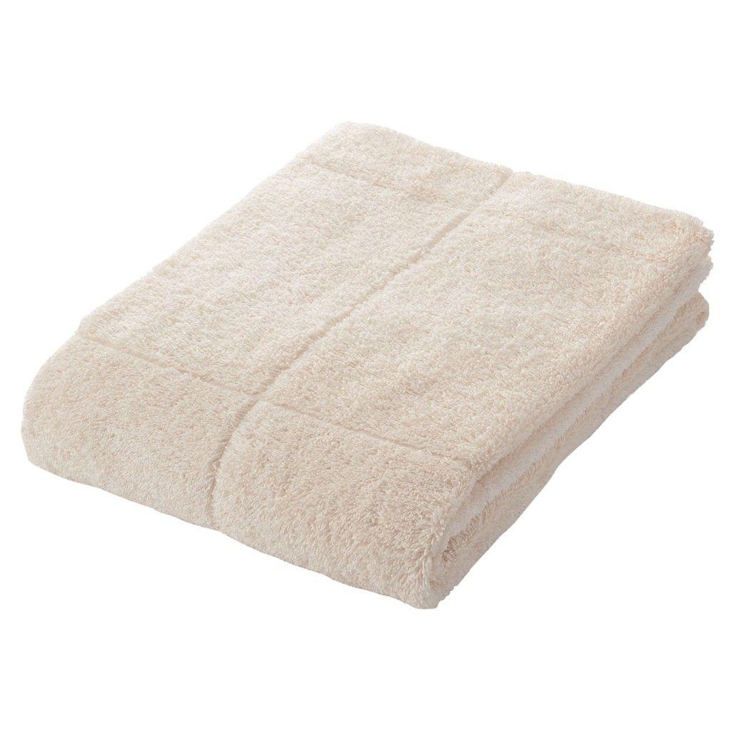 muji ecru bath towel muji style ome