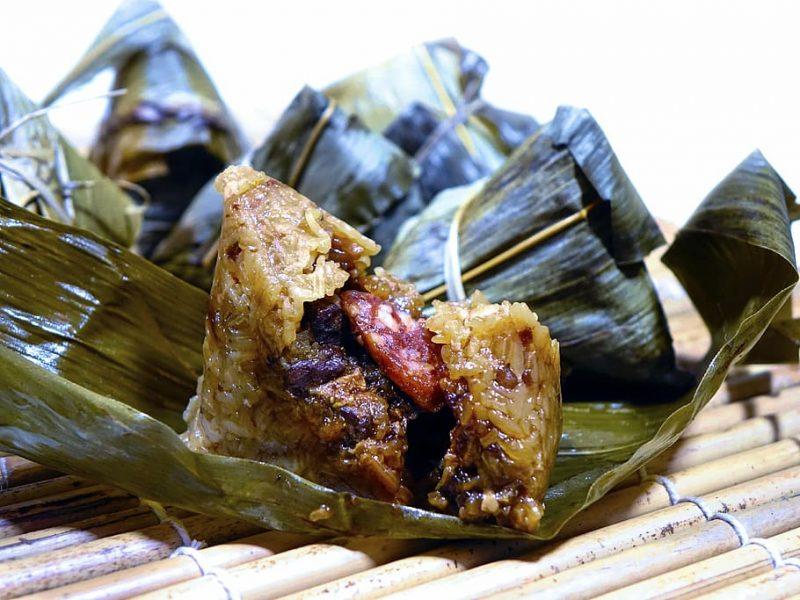 rice dumplings consumed during dragon boat festival