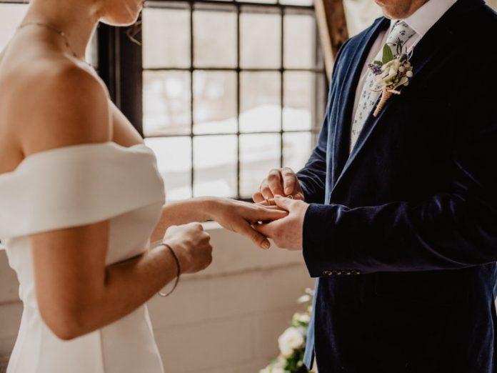 wedding livestream singapore exchange rings virtually bride groom