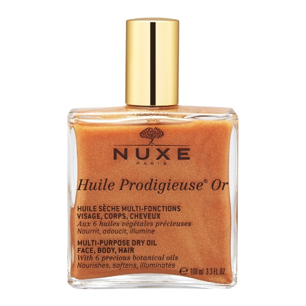 how to get glowing skin nuxe multi usage golden shimmery dry oil