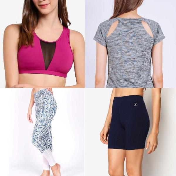 affordable activewear brands singapore funfit women sports bra top tights shorts local