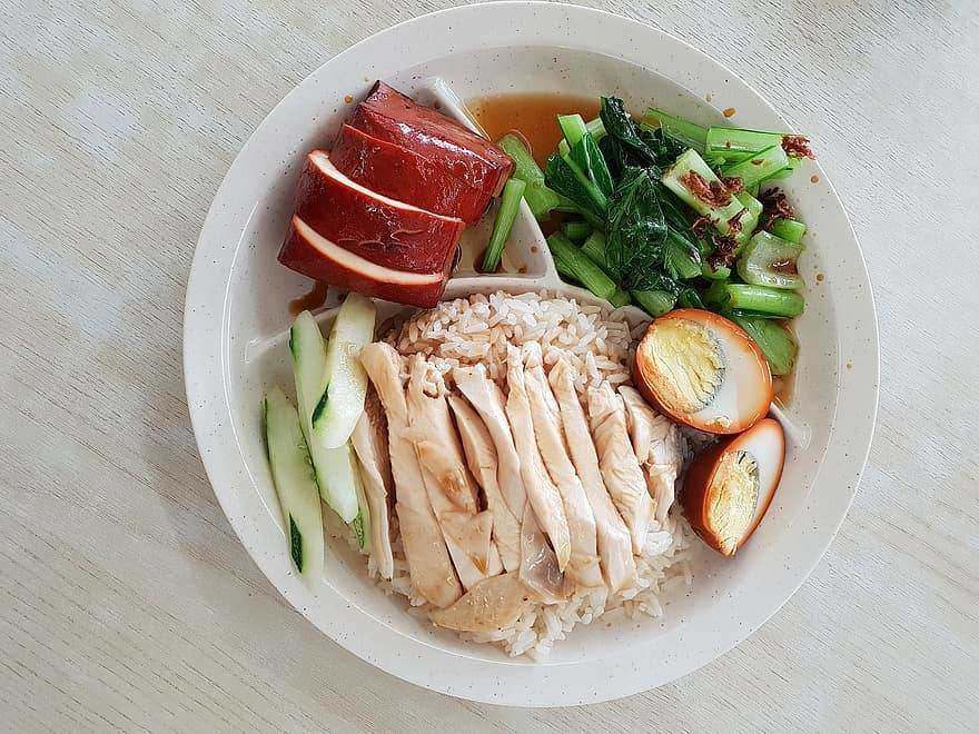 chicken rice electric lunch box recipe