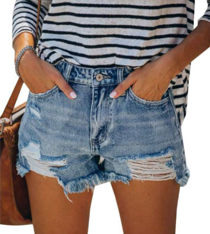 distressed denim shorts upcycling clothes