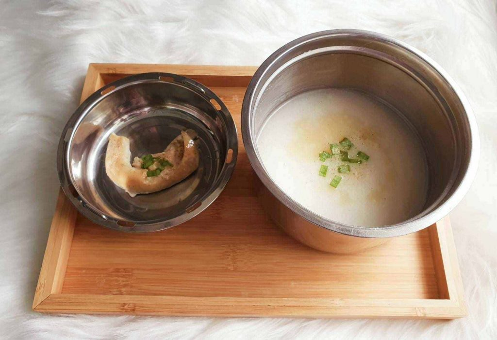 chicken congee electric lunch box recipes