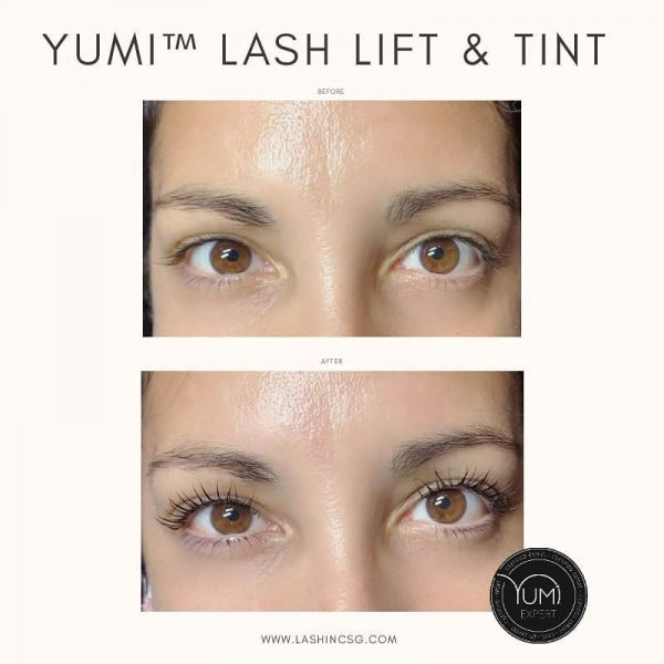 best lash lift singapore yumi tint lash inc before after
