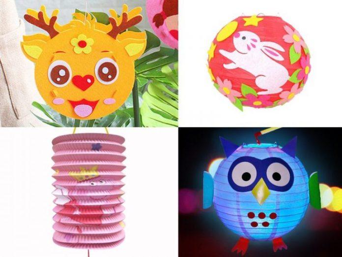diy lanterns for kids mid autumn festival colourful reindeer rabbit peppa pig owl