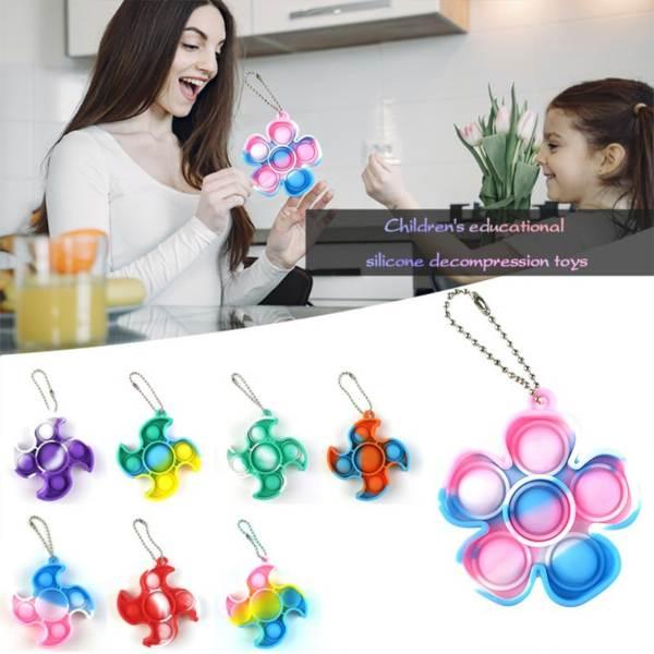 pop it fidget toy keychain kids childrens day gift ideas