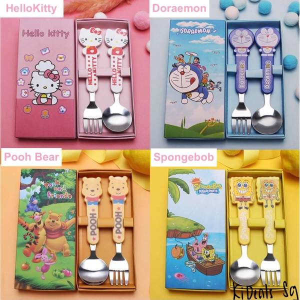 kids cartoon utensils set goodie bag children's day gift idea