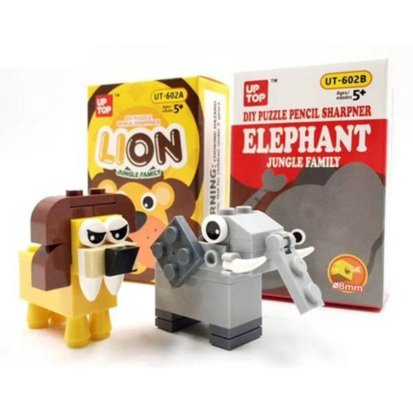 diy puzzle pencil sharpener nano block useful gift for kids