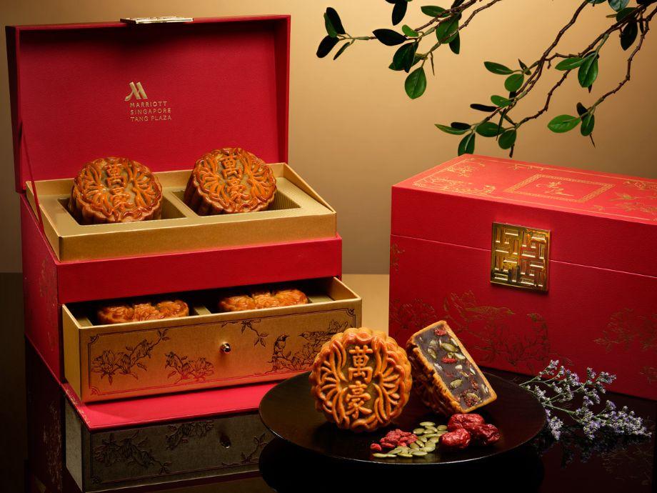marriott tang plaza hotel mooncake box design