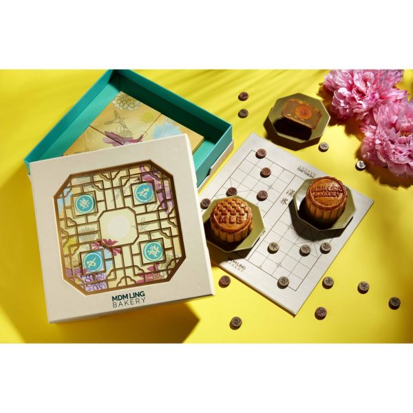 Mdm Ling Bakery Traditional Pure White Lotus Mooncake with Melon Seeds