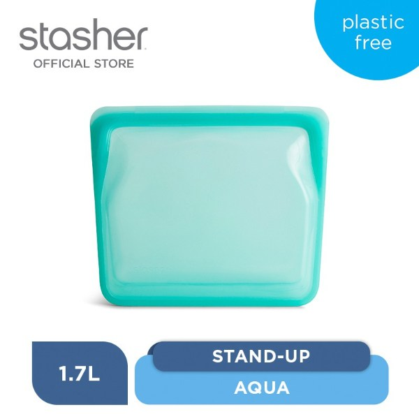 how to organise kitchen stasher reusable stand up silicone bag for leftover meal prep storage
