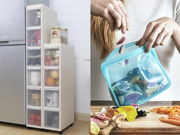 how to organise kitchen slim cabinets houze storage box stasher reusable silicone bag