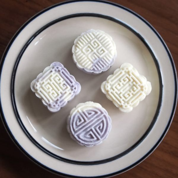 no bake snowskin mooncake easy recipe how to make mooncake purple white