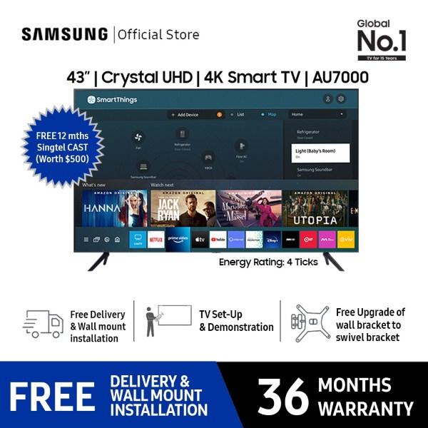 best smart tv singapore samsung 43 inch au7000 uhd 4k television