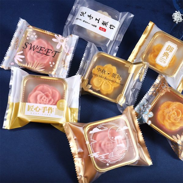 individual mooncake tray and packets mooncake packaging wrapping gift