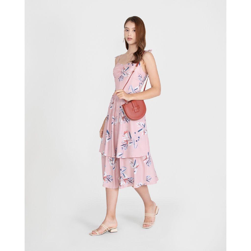 her velvet case pink floral dress best blog shops singapore