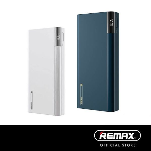 Remax RPP-108 Riji Series 20000mAh 5A P.D Charge QC 3.0 Powerbank with 2 USB Ports white and blue