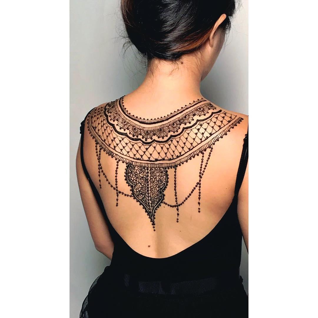 back henna design 2021